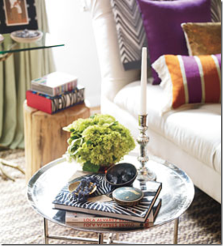 HSN Moroccan Tray Table, Rug, Sofa, Herringbone Throw Blanket And Silk  Pillows.