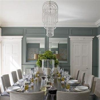 Blue And Gray Dining Room