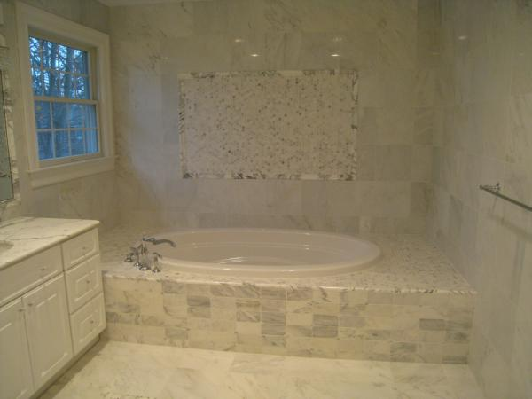 Carrera marble bathroom traditional bathroom for Carrera bathroom ideas