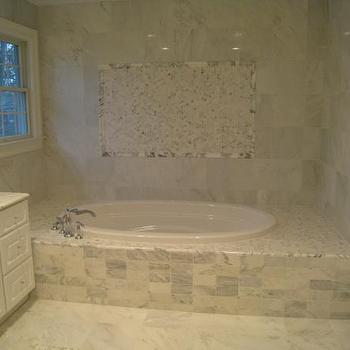 Carrera Marble Bathroom, Traditional, bathroom