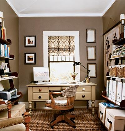 Taupe walls traditional den library office - Wall taupe ...