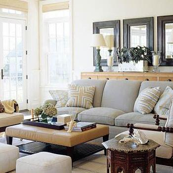 Dove Gray Sofa, Cottage, living room