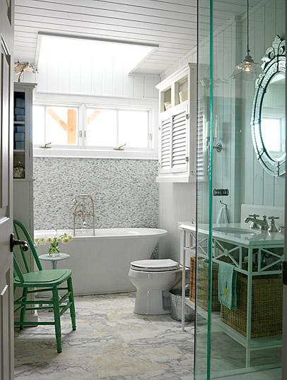 white and gray bathrooms  cottage  bathroom  kelly nutt design,