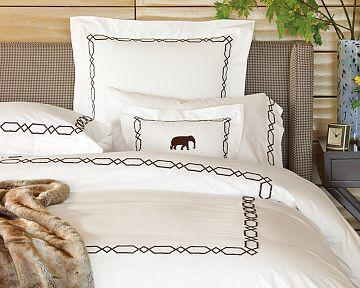 Embroidered Stripe Duvet Cover Amp Sham Sandalwood