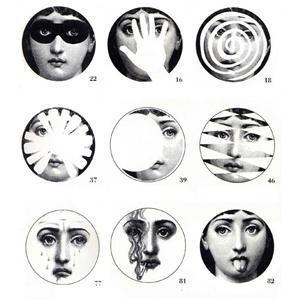 Theme And Variations Plates By Piero Fornasetti, Fornasetti, Piero Fornasetti, Home Furnishings, Unica Home