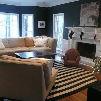 Navy And White Striped Rug View Full Size Living Room