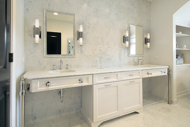 Bathroom Mirror Ideas Double Vanity double vanity ideas - traditional - bathroom - milton development