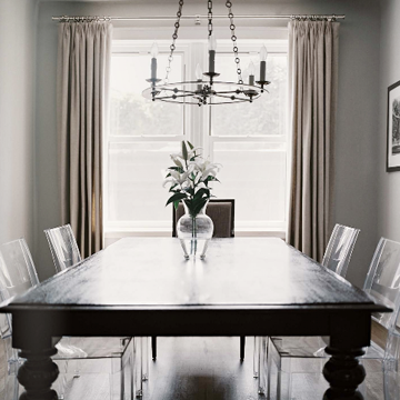 Lucite Dining Chairs - Transitional - dining room