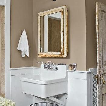 taupe bathroom walls design ideas