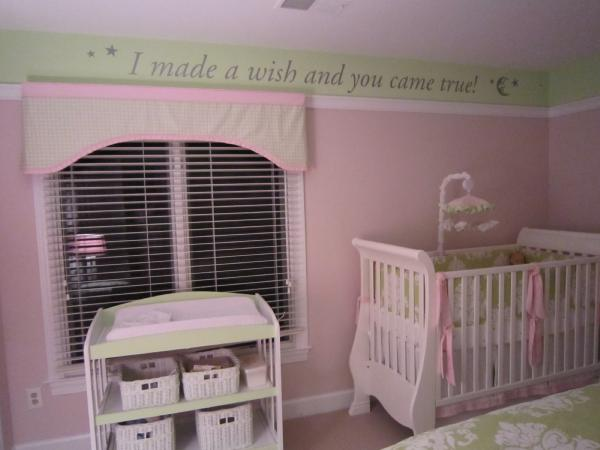 Beautiful Pink And Green Nursery Ideas
