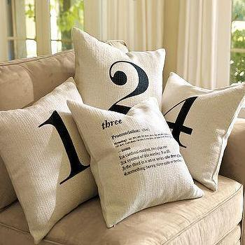 Number Pillow Covers, Pottery Barn