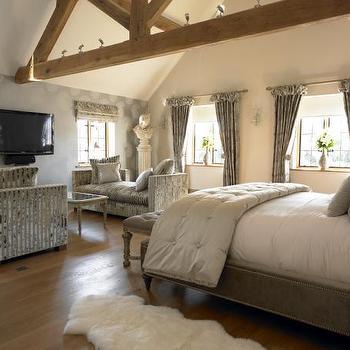 Bedroom Lounge Area, Transitional, bedroom, Farrow & Ball Skimming Stone