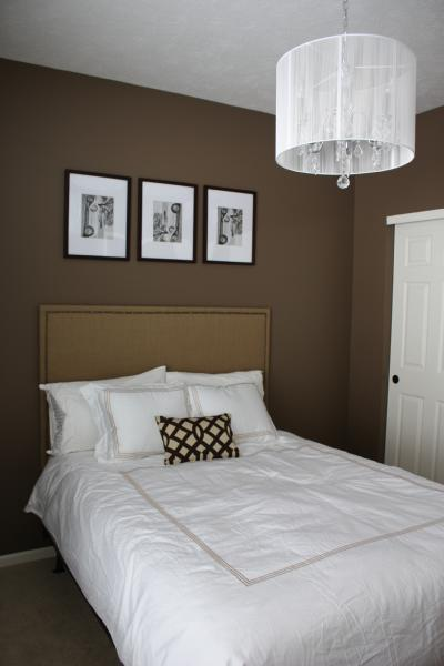 Bedroom With Brown Walls Contemporary Bedroom Behr