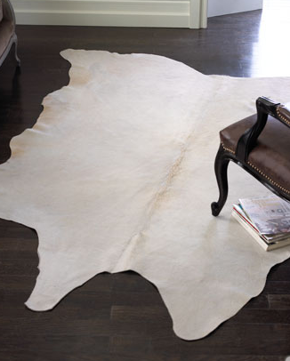 Neiman Marcus White Cowhide Rug Look 4 Less
