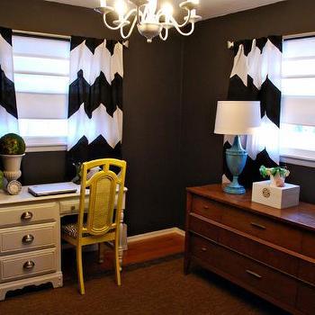Delightful Black And White Chevron Curtains