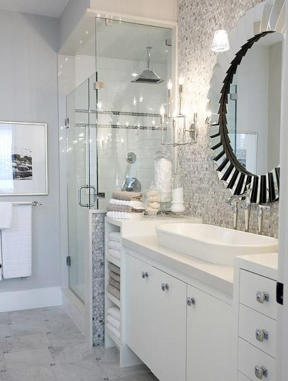 Hex Backsplash Contemporary Bathroom Sarah