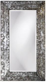 Brushed Silver Embossed Filigree Wall Mirror Lampsplus Com