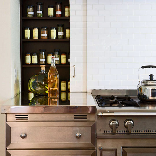Hidden Spice Cabinet Transitional Kitchen De Giulio