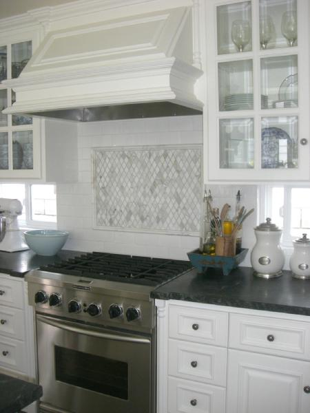 kitchen carrera marble backsplash soapstone counters