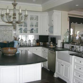 Soapstone Kitchen Island, Transitional, kitchen, Dunn Edwards oatmeal cookie