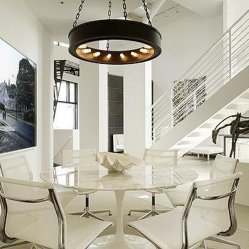 Marble Saarinen table, Contemporary, dining room