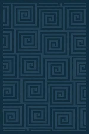 The Rugs Navy Blue Rug With Spiral Designs Requires Low
