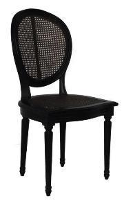 WellAppointedHouse. Black Cherie Cane Chair