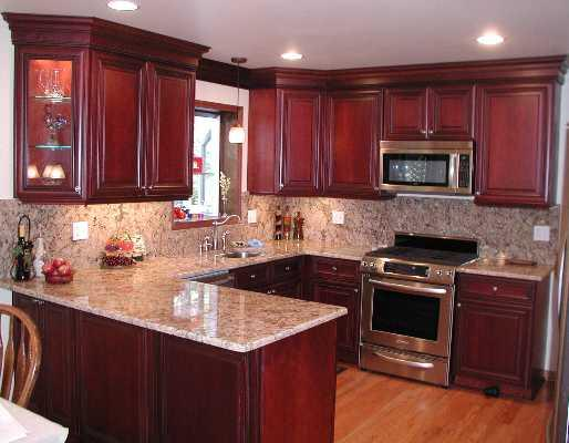 Kitchen for Best colors for kitchens with cherry cabinets