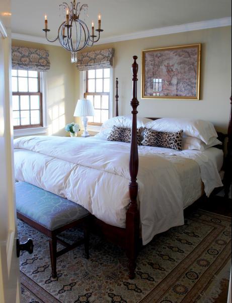 Leopard Pillows Transitional Bedroom Benjamin Moore