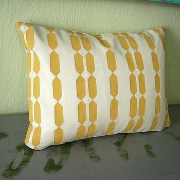 Small Block Printed Pillow Cover by HomeSweet on Etsy
