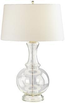 Harriet Clear Glass Table Lamp, LampsPlus.com