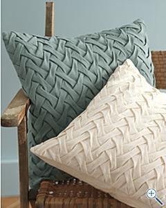 Garden Fence Pillow Cover, Garnet Hill