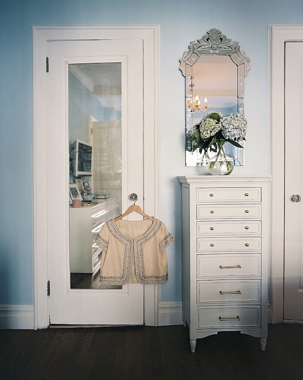 Mirrored Door Contemporary Closet Lonny Magazine