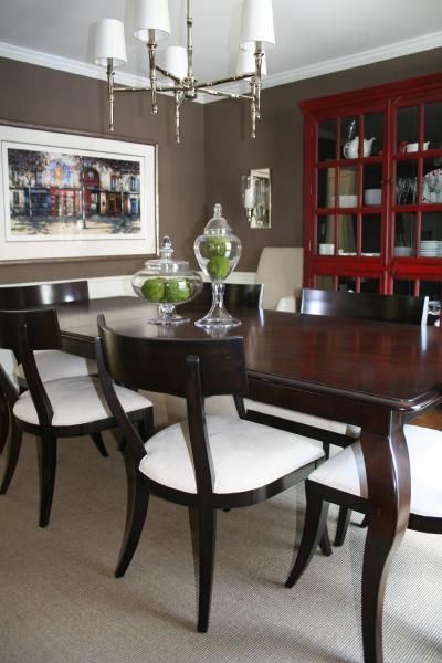 Whitall Brown Transitional Dining Room Benjamin