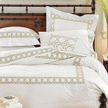 Williams-Sonoma Home, Cane Embroidered Bedding