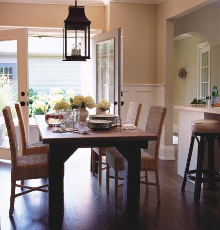 Dining room wicker chairs