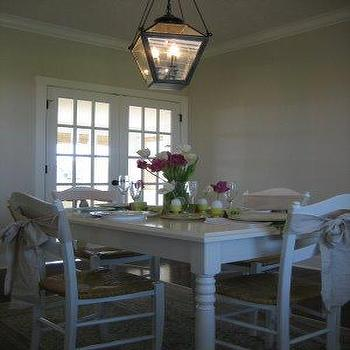 White Farmhouse Table, Cottage, dining room