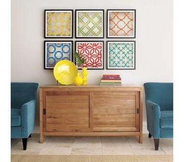Crate And Barrel   Classical Symmetry Print Set Of Six Shopping In Crate  And Barrel Decorating And Accessories
