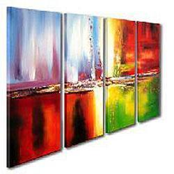 Abstract Hand-painted Oil on Canvas Art Set, Overstock.com