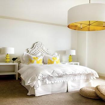 White Baroque Headboard, Contemporary, bedroom, Pieces Inc