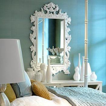 Rococo Mirror, Transitional, bedroom