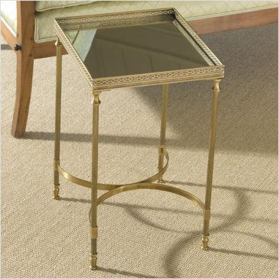 antique brass end table Global Views Claudette's Table with Mirror Top in Antique Brass  antique brass end table