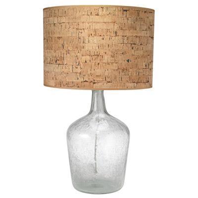 Young Lighting Lamp Base Plum Jar Medium Clear Seeded Glass ...