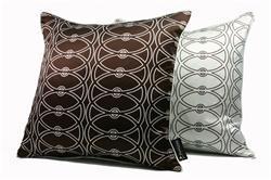 Athena Silk Pillow in Pinecone Brown, Plush Living