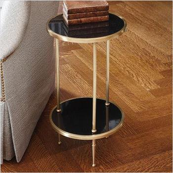 Global Views 2 Tiered Petite Table in Antique Brass, 9.91248