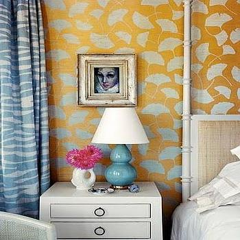 Turquoise Lamps, Contemporary, bedroom, Kimberly Ayres