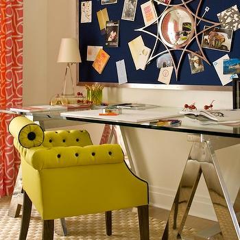 Sawhorse Desk, Contemporary, den/library/office, Amanda Nisbet Design