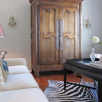 Living Room Armoire, Transitional, living room, Benjamin Moore Hazy Skies