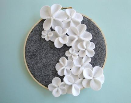 Cascading Flower Wall Art by DashingEtc on Etsy