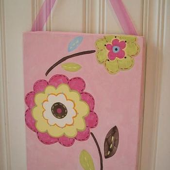 Pretty Posies handpainted canvas painting 11 x 14 by theivylane